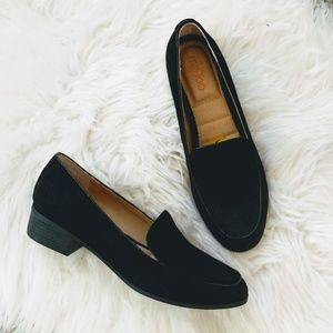 Me Too | black faux suade loafers